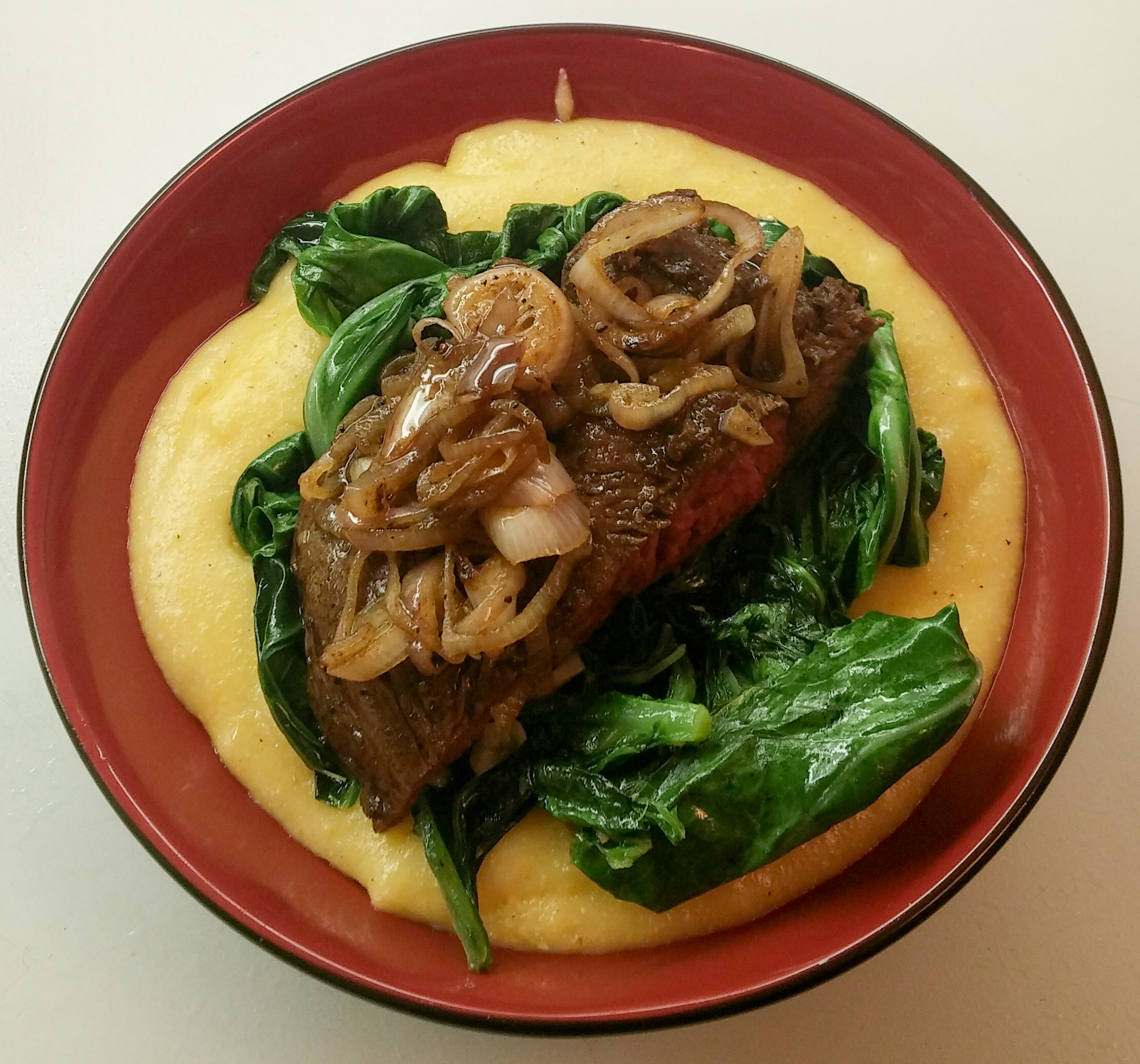Garlic eat for Creamy polenta with mushrooms and collards
